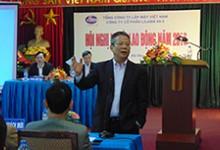 Đồng chí Lê Văn Tuấn - Tổng Giám đốc Tổng Công ty lắp máy Việt Nam phát biểu chỉ đạo hội nghị