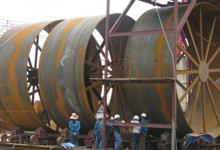 MANUFACTURING KILN SHELL OF CLINKER FOR THE MOST LARGEST CEMENT PRODUCTION LINE IN VIETNAM.